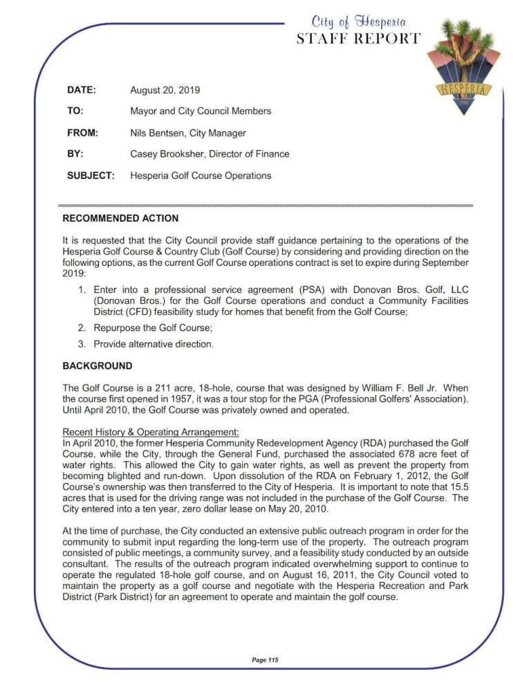Hesperia Golf Course CFD 8-20-19 Staff Report 1