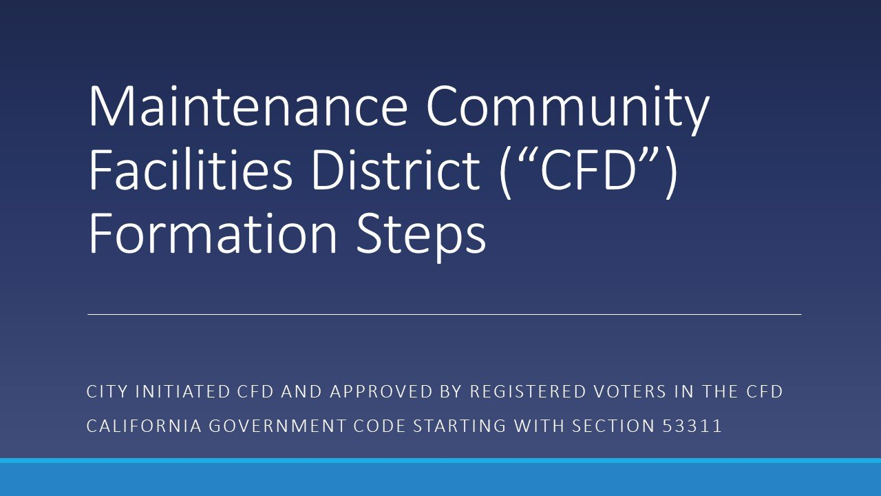 Maintenance CFD Formation Steps - 1