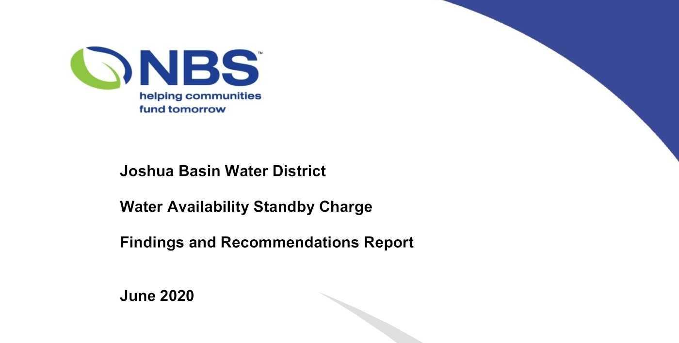 JBWD Water Availability Standby