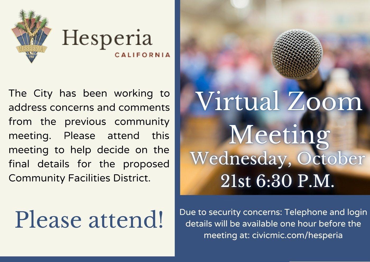 Hesperia Community Meeting - Hesperia Golf & Country Club