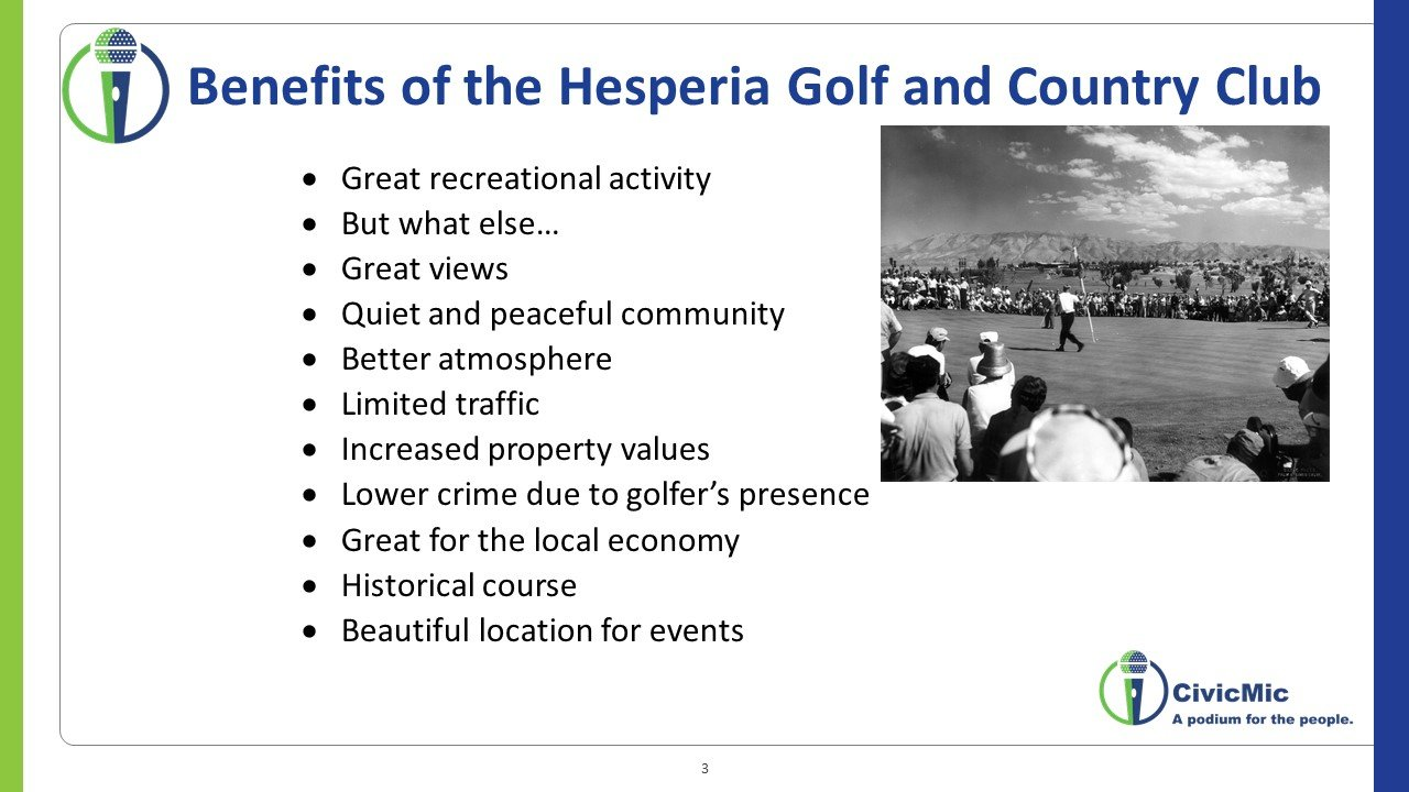 Hesperia Second Meeting CivicMic Slide 3