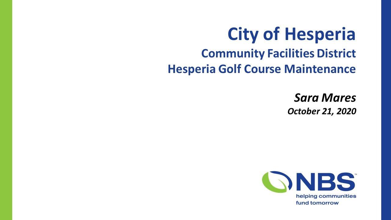 Hesperia Second Meeting NBS Slide 1