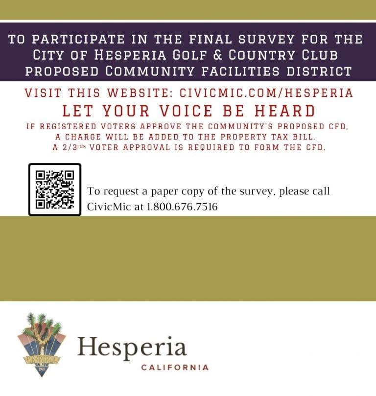 Hesperia Golf CFD Public Engagement 4