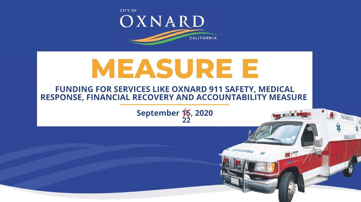 Oxnard Measure E Funds - Council 9-22-2020