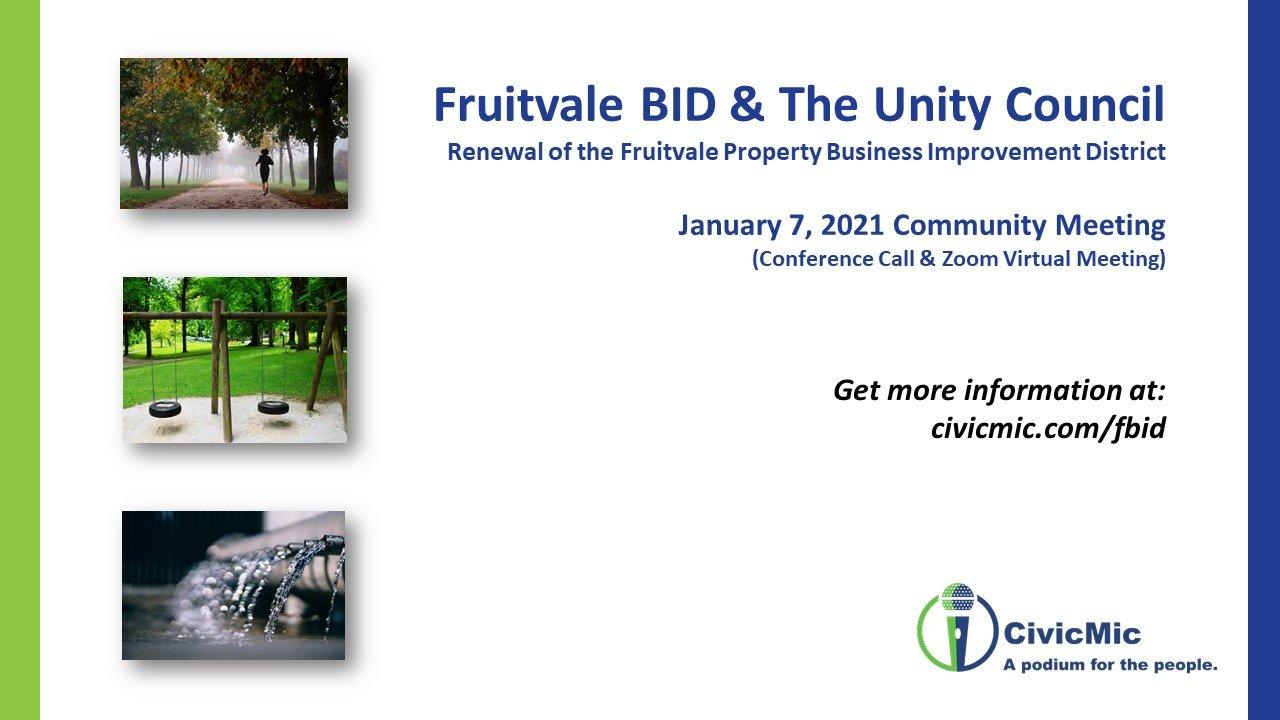 Fruitvale PBID Meeting