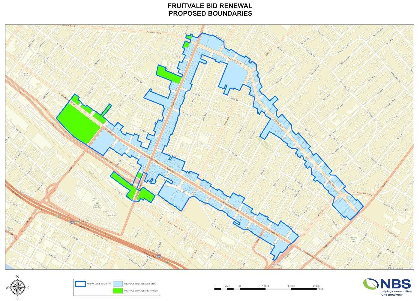 Proposed Fruitvale BID Boundaries
