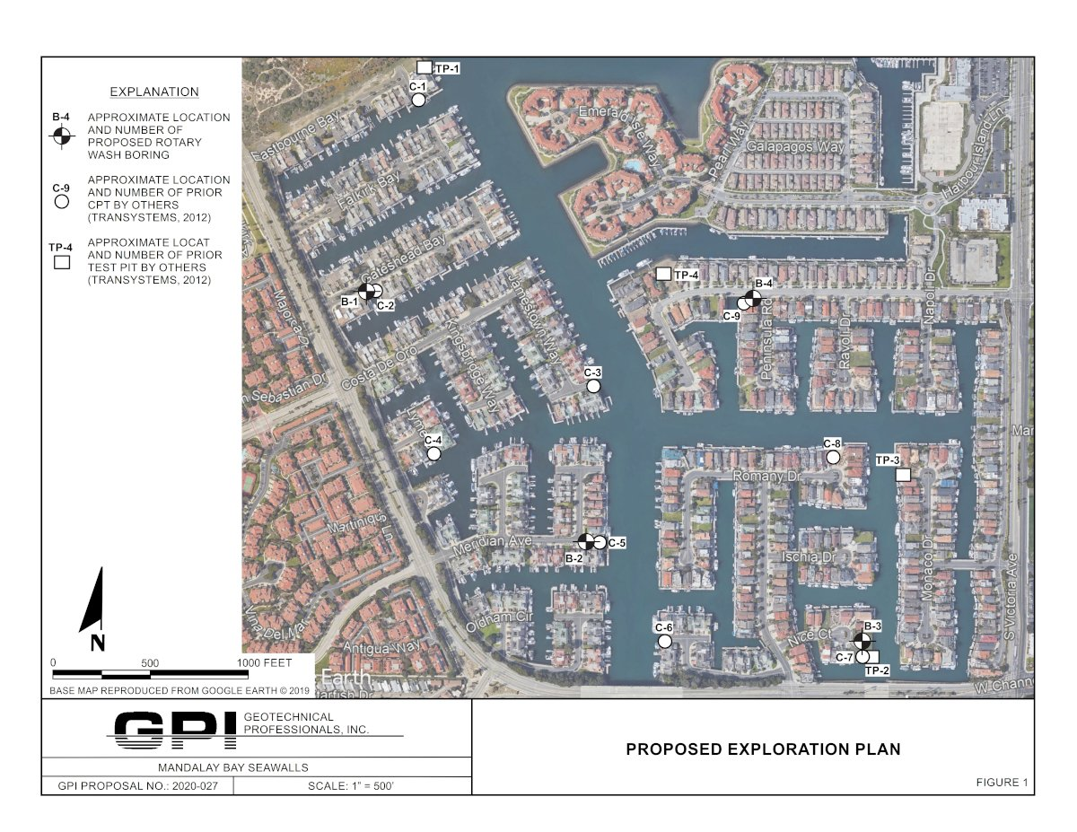 Mandalay Bay Seawalls Proposed Exploration Plan
