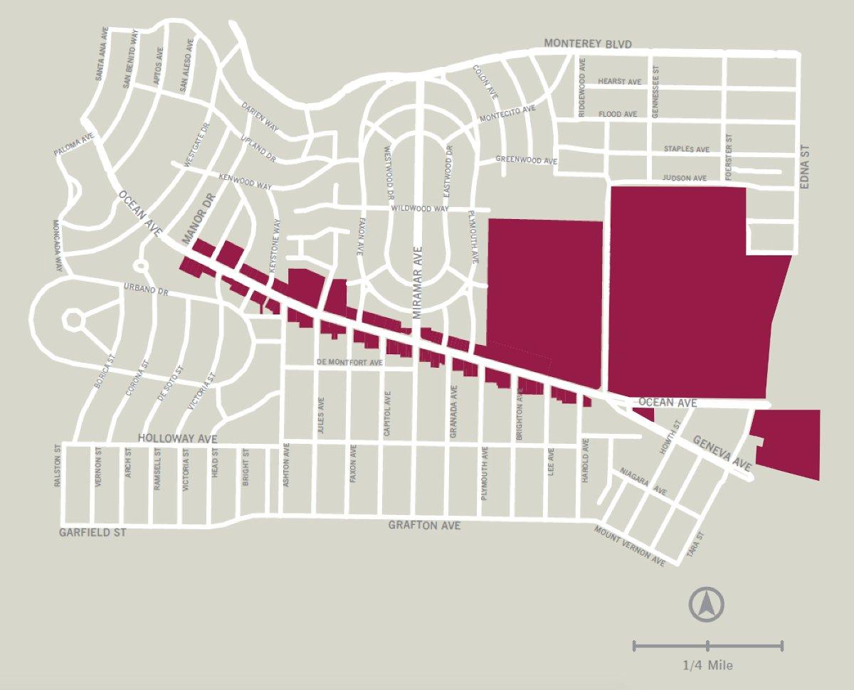 Ocean Avenue CBD Map
